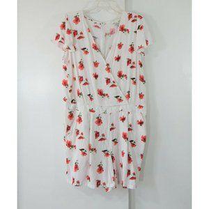 FOREVER 21 jumpsuit shorts jumper romper floral 2X